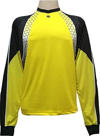 Kanxa Camisa de Goleiro Profissional modelo Paraí Tam GG Nº 12 - Amarelo/Preto - Kanxa