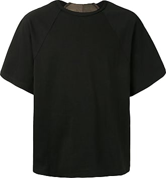 Ziggy Chen layered raglan-sleeved T-shirt - Black