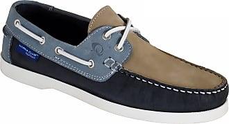 Quayside Unisex Adults Alderney Boat Shoes, Blue (Navy/Sand/Sky), 3.5 UK