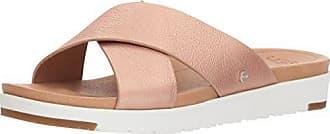 UGG Womens Kari Metallic Flat Sandal, Rose Gold, 12 M US