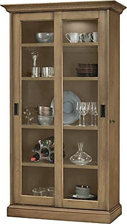 Howard Miller Meisha II - Aged Natural Solid Wood Display Cabinet Made in USA