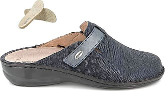 GrÜnland DARA 0667 Womens Flip Flops Outsole Printed Taupe Blue Size: 8.5 UK