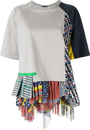 Kolor patchwork T-shirt - Grey