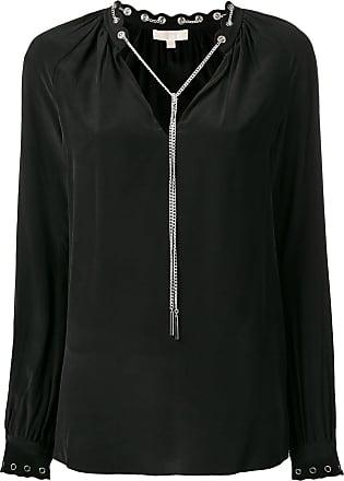 Michael Michael Kors chain-embellished blouse - Preto