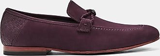 Ted Baker Casual Suede Loafers in Dark Red DAVEON, Mens Accessories