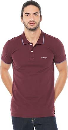 Wrangler Camisa Polo Wrangler Reta Logo Vinho