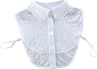 QUINTRA Women New Blouse False Collar Clothes Shirt Detachable Collars (White 0195)