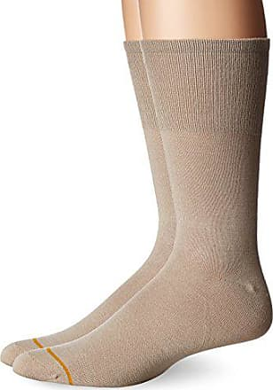 Gold Toe Mens Non Binding Rayon from Bamboo Crew 2 Pack, Tan, 6-12.5