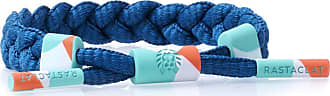 Rastaclat Up Wind Womens Braided Bracelet in Blue | Featuring Rubberized 360 Hardware Print & Debossed Emblems