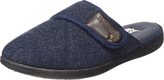 Padders Mens Baxter Open Back Slippers, Blue (Navy), 7 UK