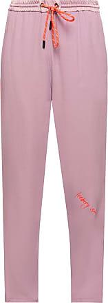 Iceberg Trousers With Logo Womens Purple