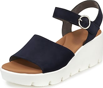 Paul Green Sandals wedge heel and platform sole Paul Green blue
