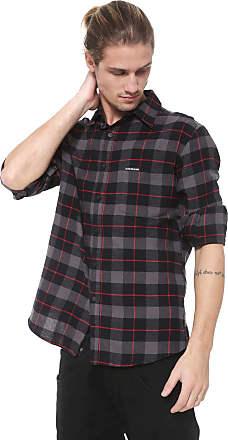 Ellus Camisa Ellus 2ND Floor Reta Xadrez Nashville Cinza/Preta