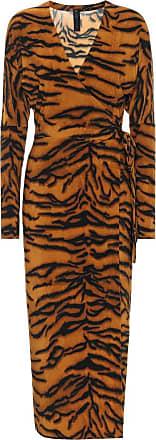 Norma Kamali Exclusive to Mytheresa - Tiger-print midi dress