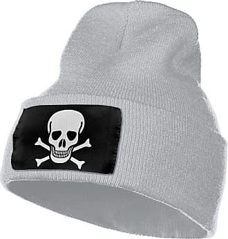 Not Applicable Clothing Crossbone Skull Head Unisex Beanie Caps Knit Skull Hat Winter Wool Hats Gray
