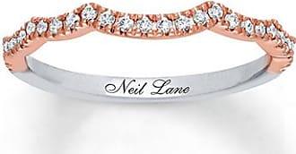Neil Lane Wedding Band 1/5 ct tw Diamonds 14K Two-Tone Gold