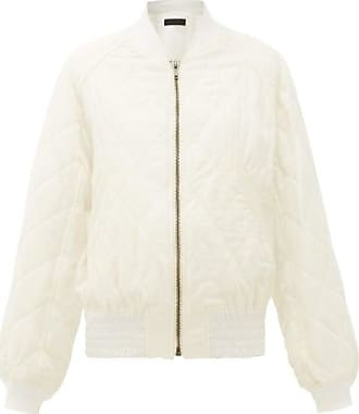 Haider Ackermann Diamond-quilted Wool-twill Bomber Jacket - Womens - Ivory