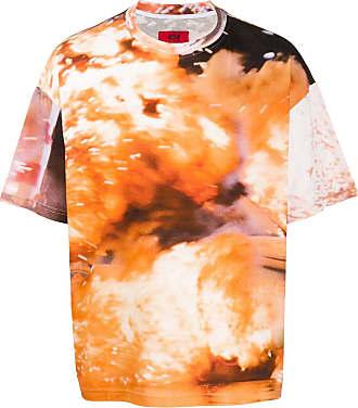 424 T-Shirt mit abstraktem Print - Orange
