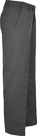 21Fashion Mens Plain Smart Belt Office Trousers Boys Fancy Casual Wear Pocket Business Pants Dark Grey W40/L31 Regular