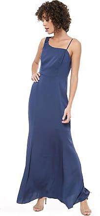 Ana Hickmann Vestido Ana Hickmann Longo Fivela Azul
