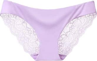 Abetteric Calcinha feminina Abetteric de renda macia, sem aro, de algodão, cintura baixa, pacote com 3, 4, US X-S=China S