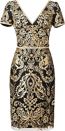 51aa409d26f5 Marchesa baroque print mini dress - Black