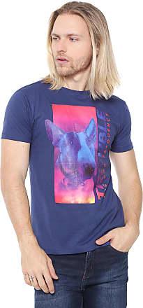 Doc Dog Camiseta Doc Dog Manga Curta Trouble Azul-marinho