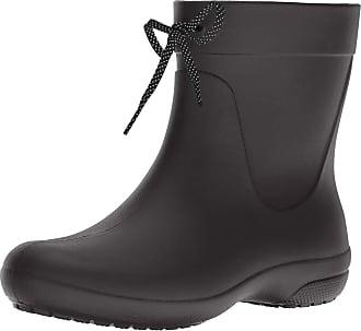 Crocs Womens Freesail Shorty Rain Boots, Black, 3 UK