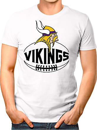 OM3 Minnesota-Ball - T-Shirt | Mens | American Football Shirt | S, White