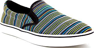 bernie mev. Womens Verona Woven Slip-On Sneaker (Turquoise, 5)