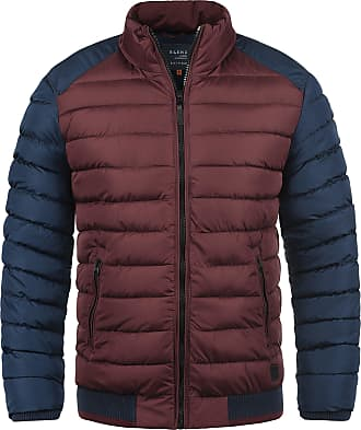 Blend Gallus Mens Quilted Jacket Puffer Jacket Padded Jacket with Funnel Neck, Size:XXL, Colour:Wine Red (73812)