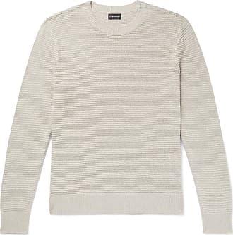 Club Monaco Textured Linen And Cotton-blend Sweater - Ecru