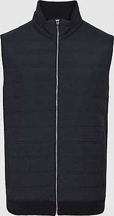 Reiss William - Quilted Gilet in Navy, Mens, Size XXL