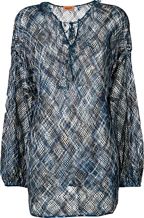 Missoni Blusa de crochê - Azul