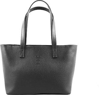 Comembreisd Woman handbag 42cm in black leather designed and handmade in Italy
