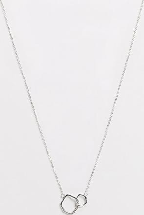 Kingsley Ryan necklace with asymmetric circle double pendant in sterling silver