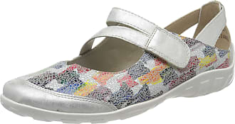 Remonte Womens R3427 Ankle Strap Ballet Flats, Multicolour (Ice/Weiss-Multi 95), 3.5 UK