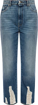 Alexander McQueen Distressed Jeans Womens Blue