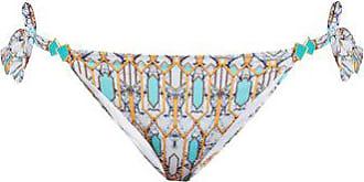 Biondi Mirage Side-tie Bikini Briefs - Womens - Blue Print