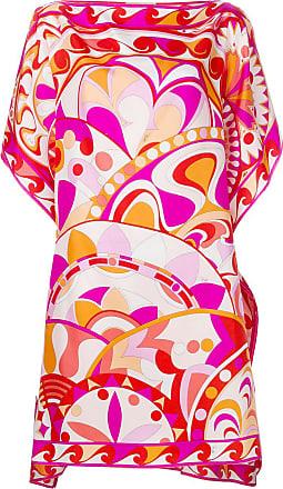 Emilio Pucci Vestido de seda com estampa floral - Rosa