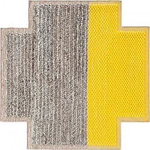 GAN Rugs Teppich Square Plait Yellows