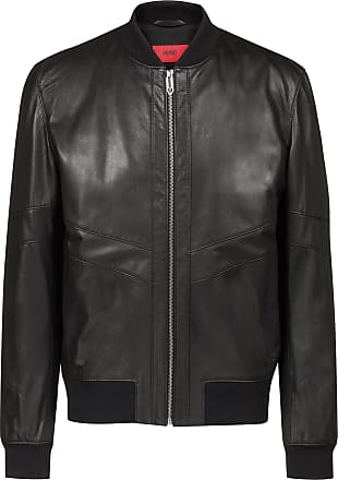 a3b8839fa78 HUGO BOSS Hugo Boss Regular-fit leather bomber jacket in nappa leather XL  Black