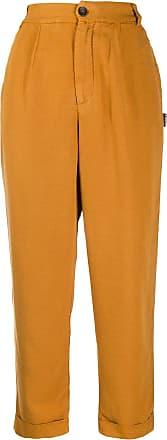 Ecoalf Calça cintura alta - Amarelo