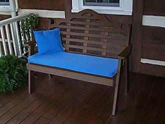 A & L Furniture A & L Furniture 857-TB TUDORBROWN Poly Marlboro Garden Bench, Tudor Brown