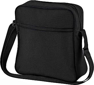 BagBase Bagbase Unisex Adults Retro Flight Bag Black One Size