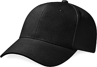 Beechfield Pro-style heavy brushed cotton cap in Black