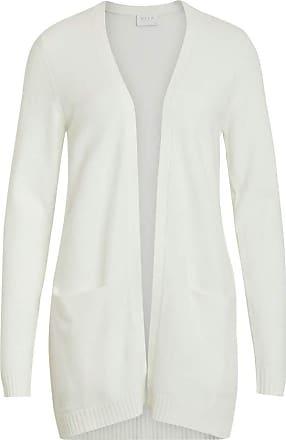 Vila Womens Viril L/s Open Knit Cardigan-noos Sweater, White Alyssum, S