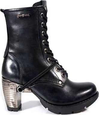 New Rock Newrock TR001-S1 Ladies Trail Black Leather Gothic Punk Lace Boots 5