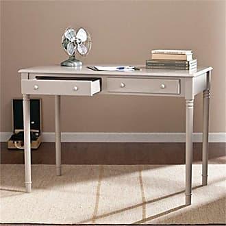 Southern Enterprises Janice 2 Drawer Writing Desk - Slim Profile Design - Gray Finish