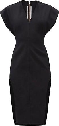 Rick Owens Double Slit-side Cotton-blend Dress - Womens - Black